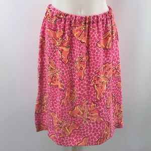 Lilly Pulitzer Pink Butterflies Print Skirt Size 8
